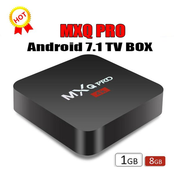 Андроид 7.1 каналами противоударный бокс Pro с 4К четырехъядерный процессор 1 ГБ/8 ГБ встроенный S905W от Rockchip RK3229 смарт-телевизор коробка беспроводной доступ в Интернет поддержка 3D и 4K IPTV в коробке WiFi