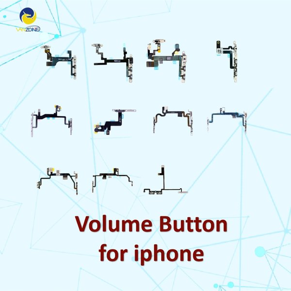 Cellcore Power On / Off Volume Button Mute Connectors Flex Cable With Metal Brackets for iPhone 5 5s 6 6s 6 plus 7 7p
