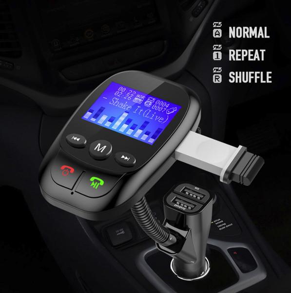 Acessórios para carro Transmissor sem fio Bluetooth para carro FM Adaptador de rádio MP3 Kit veicular Carregador USB + Cabo de áudio # G10
