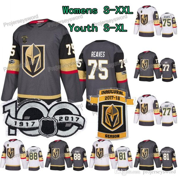 Lady & Youth 100th Ryan Reaves Vegas Golden Knights Brad Hunt Jonathan Marchessault Nate Schmidt Alex Tuch Tomas Tatar Tomas Nosek Jerseys