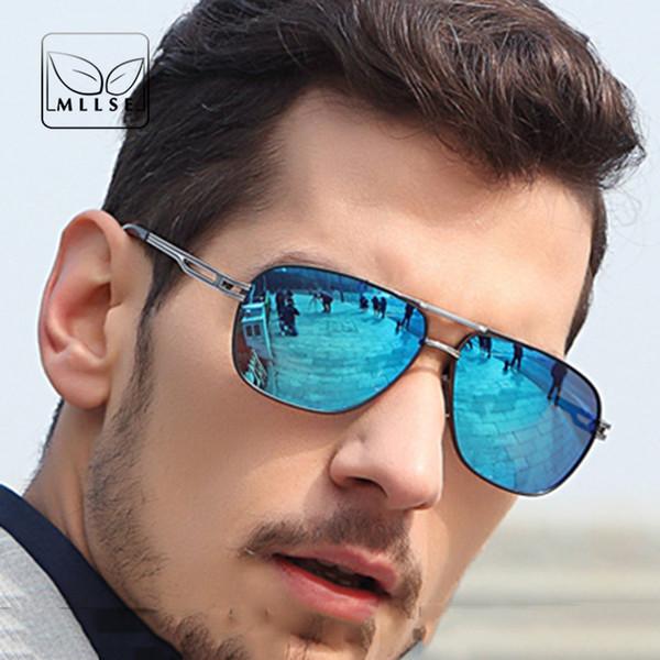e112900a22 Compre MLLSE Marca Goggle Gafas De Sol Deportivas Hombres Mujeres Aleación Doble  Haz Gafas De Sol Moda Conducción Al Aire Libre UV400 Unisex Gafas ...