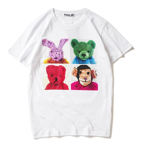 2019 latest HOT best Quality Small Animal Doll Printing HOT SELL Summer clothes Short sleeved Fashion Trend JOKER T-SHIRTS TOPS