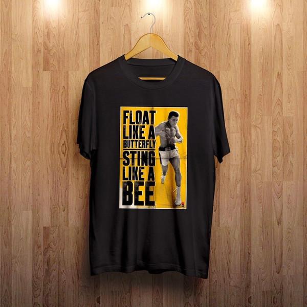 Muhammad Ali schwimmt wie ein Schmetterlings-T-Shirt - klein bis 5XL-Größen - Mohammed Funny kostenloser Versand
