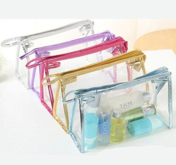 투명 화장품 가방 PVC 지퍼 분명 방수 메이크업 가방 여성 여행 세면 용품 저장 가방 메이크업 케이스 케이스 7styles GGA2042