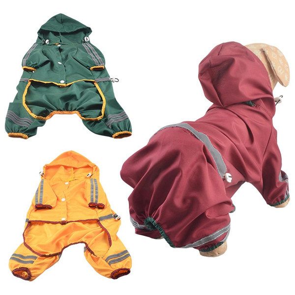 pet supplies dog clothes dog raincoat pet clothing apparel reflective puppy waterproof poncho coat jacket t-shirt