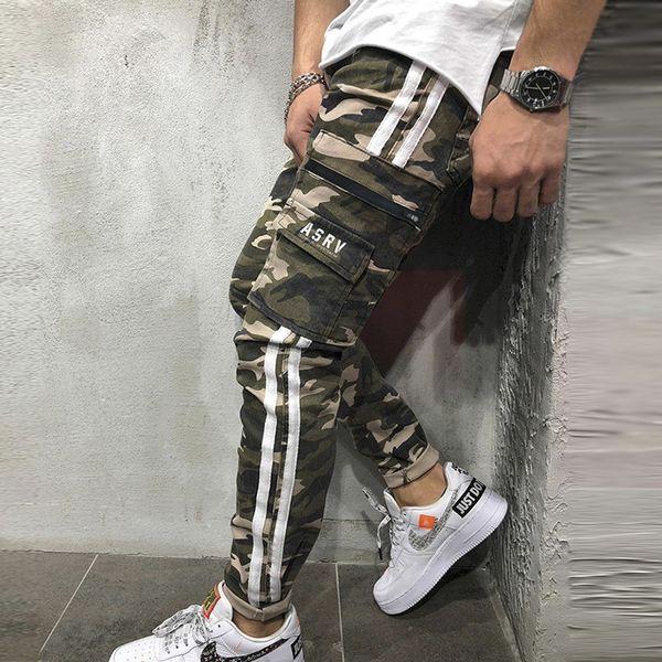 2019 New sports Pants Big Code men zipper cardigan Pants Running bouquet pants
