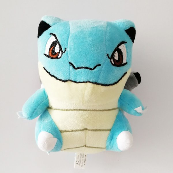 Hot Sale New 7inch 18cm Blastoise Pikachu Plush Stuffed Doll Toy For Kids Best Holiday Gifts Wholesale