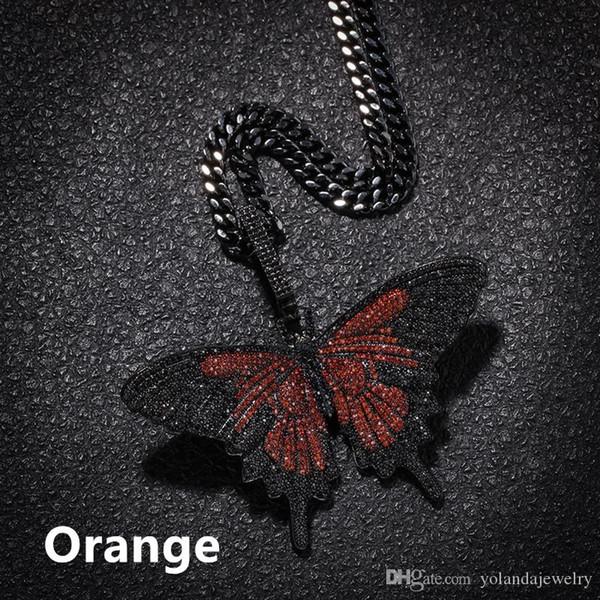 Arancio con catena cubana 5 millimetri 70 centimetri