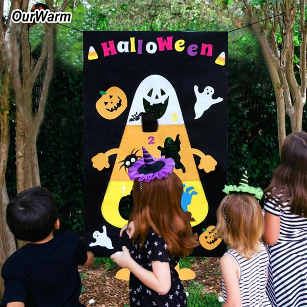 Party DIY Decorations OurWarm Halloween Funny Games Festival Party Supplies Hanging Pumpkin Ghost Toss Game Educational Games Gift for Kids