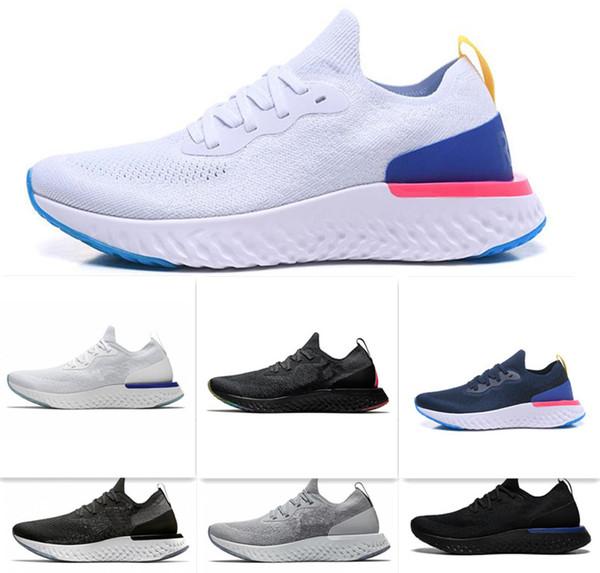 2019 Melhor Mosca Reagir Mens Running Shoes Colégio Marinha Triplo Preto Cinza Escuro Malha Designer Esporte Tênis Formadores 5.5-11