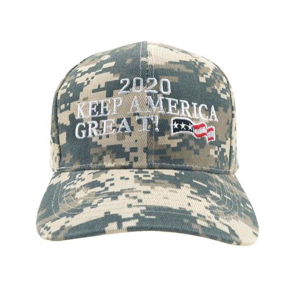 Новый камуфляж Бейсболка Вышивка Trump 2020 Snapback Шляпы Унисекс Спорт Camo Army Caps Регулируемое Hat