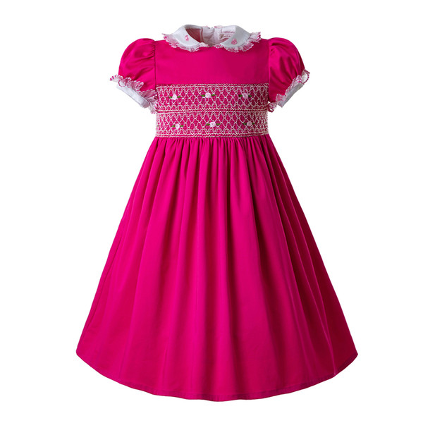 Smocked Christmas Dress.Pettigirl Hot Pink Newest Doll Collargirls Smocked Christmas Dress Newborn Smocked Dress Baby Smocked Outfits Kids Clothing G Dmgd109 C95 Coats For