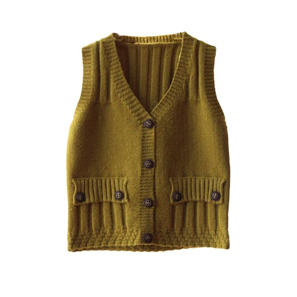 2019 Sell Baby Sweater Vest Spring And Autumn Girls Clothes V-neck Knitting Sleeveless Vest Jacket Toddler Waistcoat