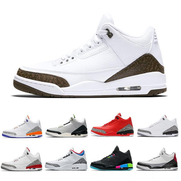 Chlorophyll Mocha 3s Tinker 3 III Men Basketball Shoes Katrina Knicks Rivals Free Throw Line Quai 54 WOLF grey Man Sports Sneakers 8-13