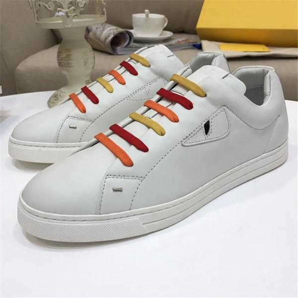 2019 Cheap design di lusso Uomo Donna Sneaker Casual Shoes Italia scarpe Brand design coppia in vera pelle di alta qualità