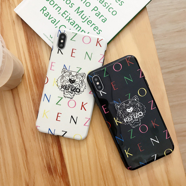 Wholesale tpu phone case moda para iphone 6s 7 8 p x xs cabeça do tigre telefone designer tampa traseira para presentes