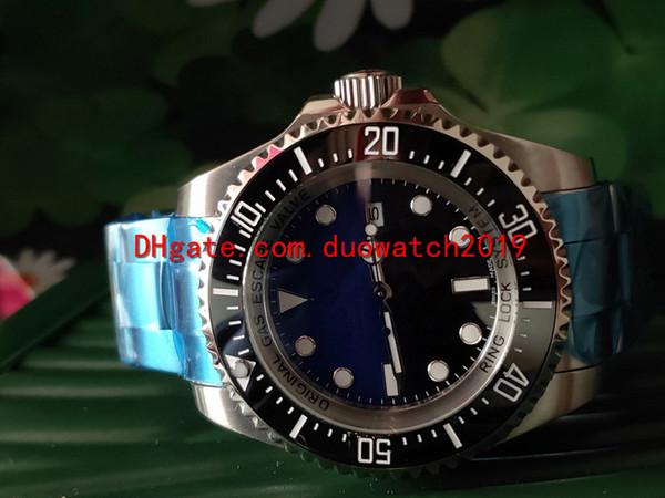 2 cores de Venda de Homens Relógio Top Quality limitada 44mm edição topSEA-DWELLER Cerâmica Bezel de Aço Stanless 126660 Automático Business Casual fo
