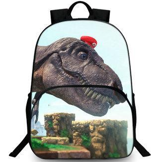 Dinosaur backpack Super Mario hat day pack Cute big animal school bag Leisure packsack Quality rucksack Sport schoolbag Outdoor daypack