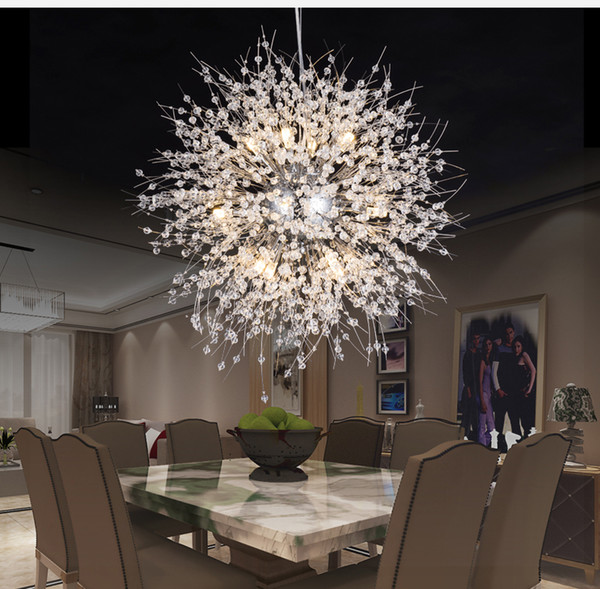 snowflake modern crystal chandelier nordic style led lamp creative personality crystal model atmosphere pendant light fixture
