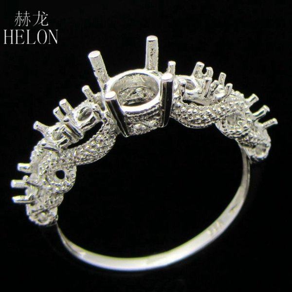 ROUND 6MM SETTING DIAMOND SEMI MOUNT ENGAGEMENT FINE RING STERLING SILVER 925