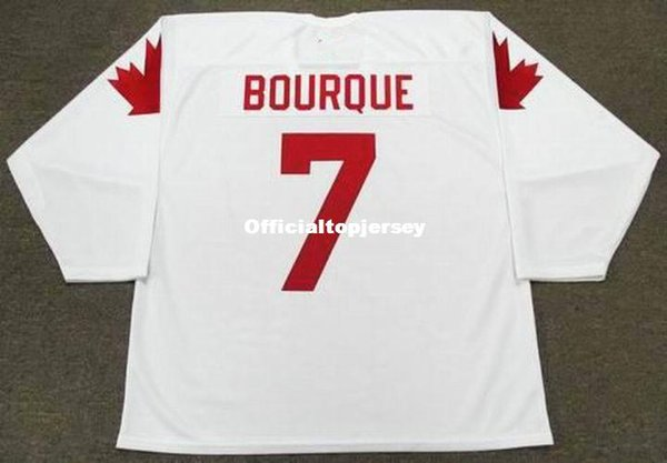 Cheap customize RAYMOND BOURQUE 1987 Team Canada Retro Top Hockey Jersey Mens Stitched Personalized Jerseys