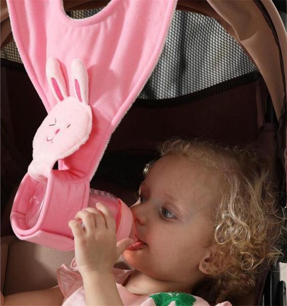 Infrant Newborn Baby Bottle Holder for Hands Free Feeding Bottle Cloth Clips Stroller Accessories Feeding Bottle Plush Sling Strap