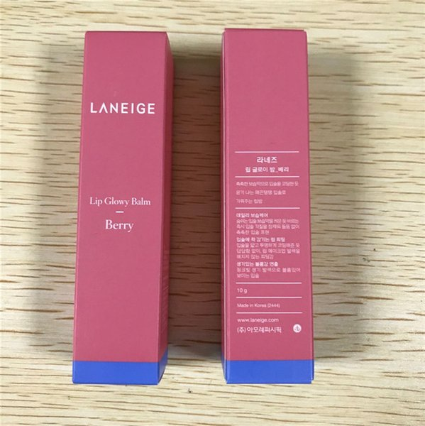 Drop shipping!top Quality!!DHL Shipping 12pcs Laneige Special Care lip glowy balm 10g berry LZ Lip Care cosmetic new package
