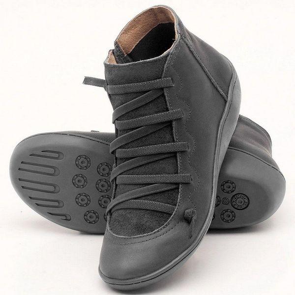 Зимняя из натуральной кожи лодыжки Весна обувь женщина короткими каштановыми Nice для женщин Lace Up Boots
