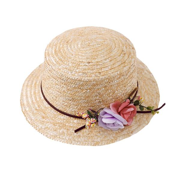 Sommer-Frauen-Sonnenhut-breiter Rand-Stroh-Gaze-Kappe mit Blumen-Beweis-Strand-Hüten im Freien