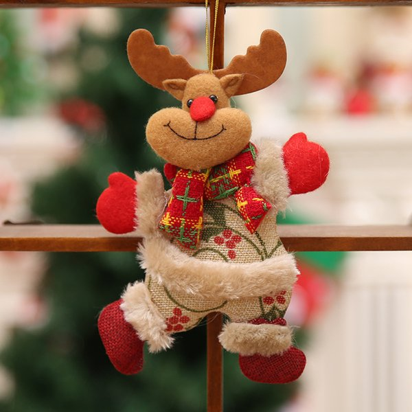 Christmas Christmas Tree Accessories Christmas Doll Dancing Snowman Small Doll Deer Fabric Doll Small Pendant Pendant Gift