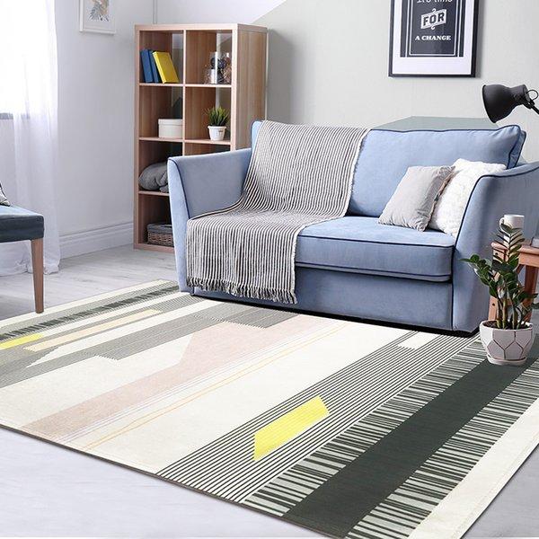 Großhandel Geometrische Teppich Wohnzimmer Nordic Teppich Schlafzimmer Sofa  Couchtisch Teppich Home Decor Bodenmatte Moderne Arbeitszimmer Teppiche ...