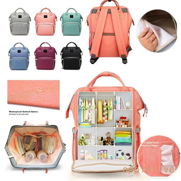 Bolsa de pañales al por mayor Becmd Mochila de gran capacidad Mochilas de viaje de múltiples funciones Bolsa de pañales Bolso de la enfermera Bolsas de moda momia
