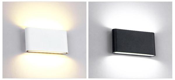 Lampada da parete per esterno impermeabile 12W Sorgente LED su e giù per illuminazione moderna minimalista per interni esterni Portico Luce da giardino