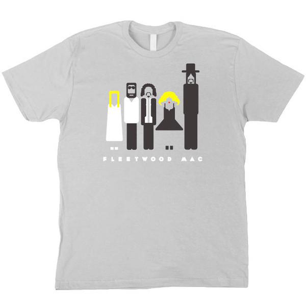 Fleetwood Mac Vector Graphic Grey T Shirt Stevie Nicks, Lindsey Buckingham  Etc Funny 100% Cotton T Shirt Colour Jersey Print T Shirt T Shirt On Buy