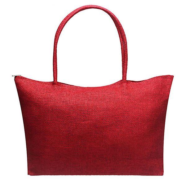 Cheap Fashion Handbags Bag Women Bolsas Hot Simple Candy Color Large Straw Beach Bags Women Casual Tote Bags for women