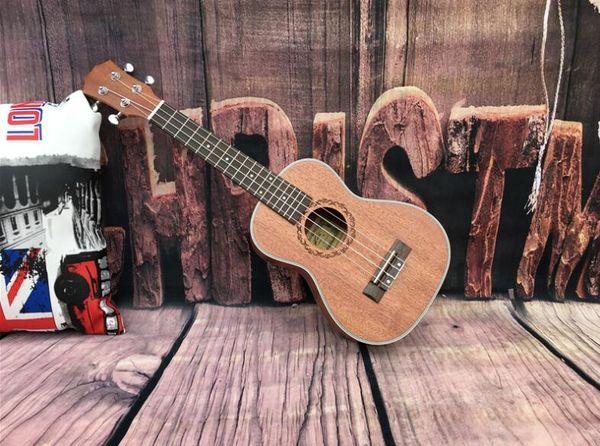 Guitarra de fábrica Ukulele pequeña guitarra principiante 26 pulgadas uklele full Sapele guitarra acústica envío gratis