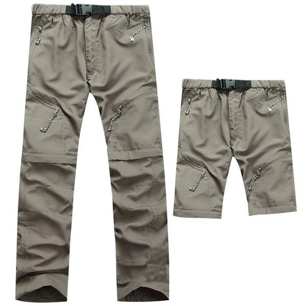 2017 Plus Size Traspirante Kd Quick Dry Sottile Pantaloni Maschio Femmina Outdoor Sport Abbigliamento di Marca Pantaloni Da Trekking Pantaloncini Da Campeggio C19041201
