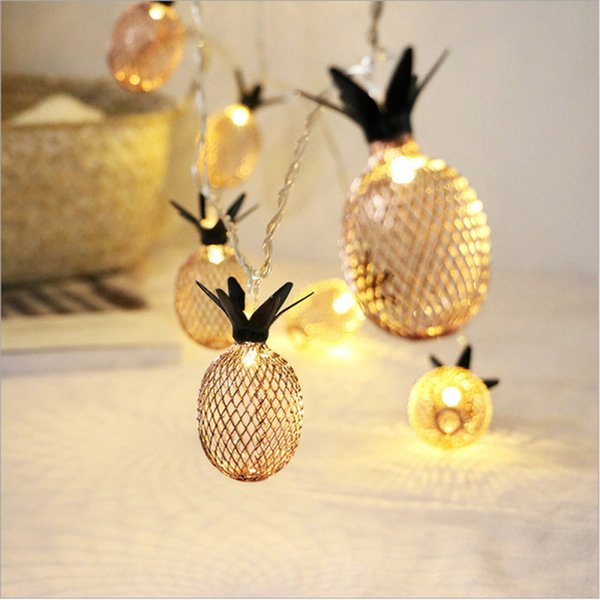 1.5/3M Droop 10/20pcs Pineapple Fruit String Lights Yellow Light New Year Wedding Party Garland Led Light for Outdoor Christmas