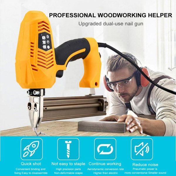2300W 220V Nail Gun Electric High Power 1022J code nail gun For Furniture Strips Kitchen Cabinets Floor Installation Head