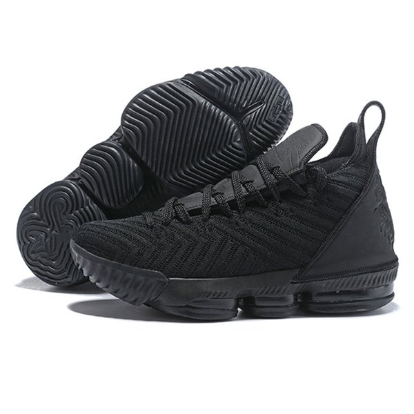 Spring 2019 Summer Shoes Xvi 16 Triple Black Mens Basketball Shoes For Ep Sports Training Sneakers Size 40-46