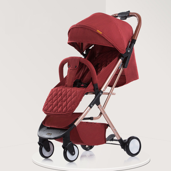 Super Light Baby Stroller/ Baby Carriage, Children Trolley, Fast Folding Pushchair Can be Carried to Airplane, Free Shipping
