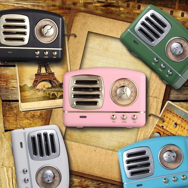 HM11 Mini Bluetooth Lautsprecher Klassische Retro Vintage V4.1 Wireless Radio Tragbarer Lautsprecher Stereo Tiefer Bass FM U Scheibe TF Handsfree Subwoofer