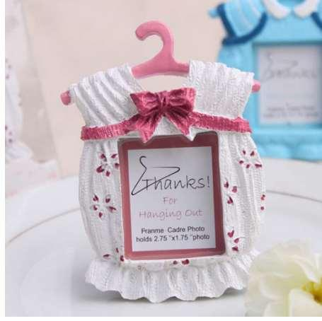 Baby Clothes Shape Lovely Photo Frame Newborn Baby Photo Frame Perfect Baby Shower Gift 2 Color