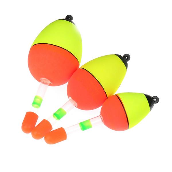 5 Pz / set Notte Glowing Pesca Galleggiante Glow Light Stick Pesca Galleggianti Illuminazione Galleggianti Tubo Per