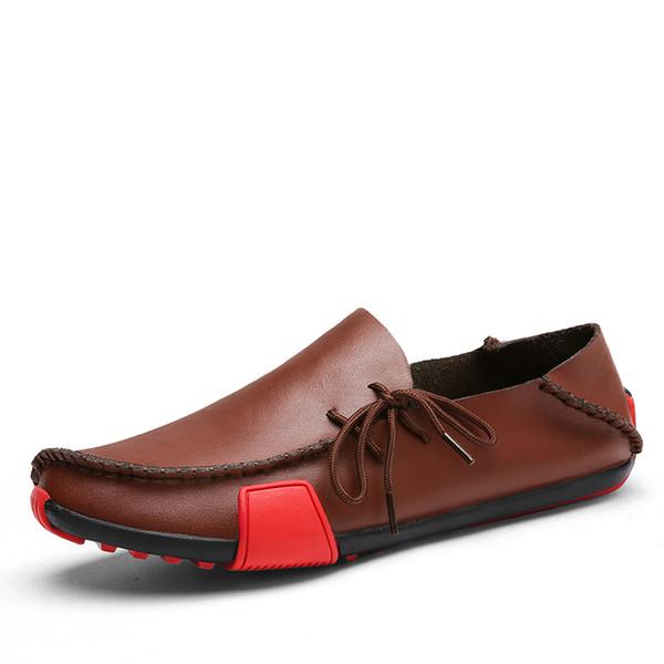 Hombres Zapatos De Cuero Italia Diseñador Mocasines Verano Otoño Oxford Mocasines Hombres Zapatos Casual Conducción Sapato masculino Tamaño Grande 47