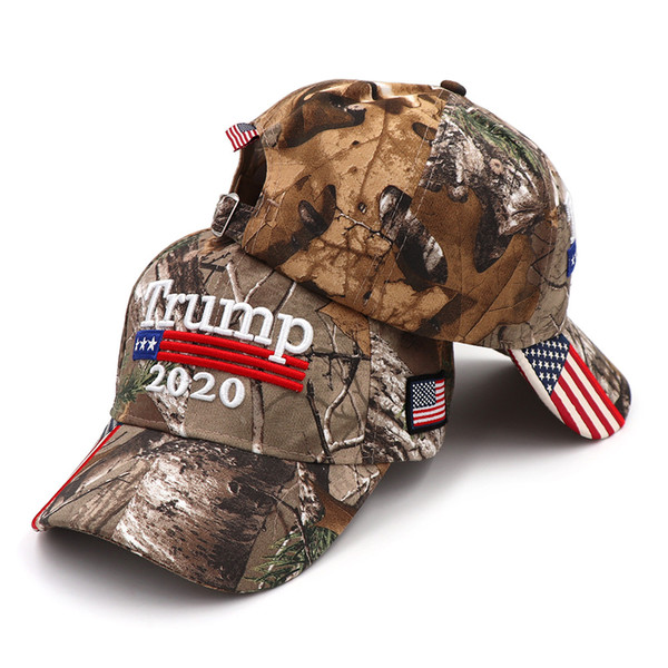 Trump 2020 Camouflage Baseball Caps USA Embroidery Make America Great Snapback Hat Embroidery Star Letter Camo Army Cap