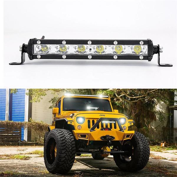 2PCS work light 18W car bar spotlight searchlight Led bar for jeep boat ATV UTV SUV 4 wheel 4x4 truck forklift off-road driving