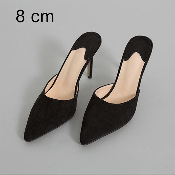 Nero 8 centimetri Pantofole