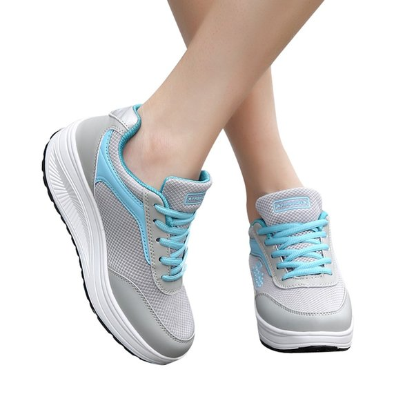 Fashion Women Mesh Heightening Shoes Soft Bottom Rocking Shoes Sneakers Women Sneaker Fashion 2019 zapatillas mujer #WS