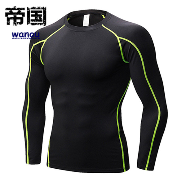 NEW Quick Dry Compression Men Short Long Sleeve Tee Running Shirt Fitness Workout Tight Tennis Soccer Jersey Gym Sportswear